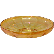 """Imperial Glass Company, Wide Panel Bowl, 10"""", Marigold Carnival"""