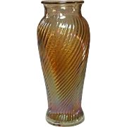 Carnival Glass Vase, Imperial Glass, Swirl Pattern