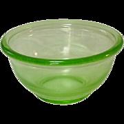 "Hazel Atlas Glass, Plainware Mixing Bowl, 6"", Depression Green"