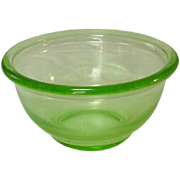 "Hazel Atlas Glass, Plainware Mixing Bowl, 6"", Depression Green"