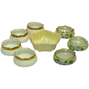 Assorted Vintage Individual Salt Dips, Irsih Belleek, Handpainted