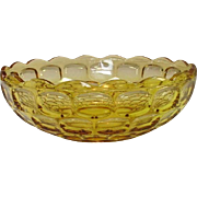 "Federal Glass Company, Yorktown Pattern, 9 1/2"" Bowl, Amber, 1950's"