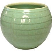 Early 20th Century Stoneware Jardiniere, No Mark, Green