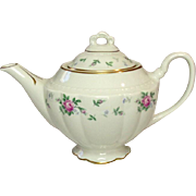 Princess China, TruTone USA, Sweet Briar Pattern, Tea Pot, Mid 20th Century