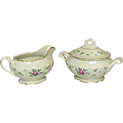 Princess China, TruTone USA, Sweet Briar Pattern, Creamer & Sugar Set, Mid 20th Century