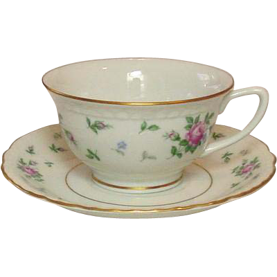 Princess China, TruTone USA, Sweet Briar Pattern, Cup & Saucer Set, Mid 20th Century