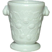 Westmoreland Glass Company, Blackberry Pattern Spooner, Milk Glass, WG mark