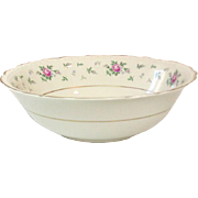 Princess China, TruTone USA, Sweet Briar Pattern, Round Serving Bowl, Mid 20th Century