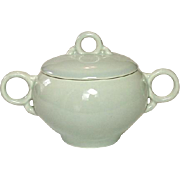 Universal Potteries, Ballerina Shape, Sugar with Lid, Dove Gray, Circa 1940's