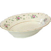 Princess China, TruTone USA, Sweet Briar Pattern, Oval serving Bowl, Mid 20th Century