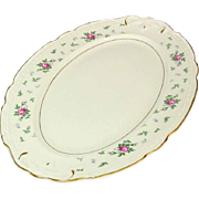 "Princess China, TruTone USA, Sweet Briar Pattern, 16"" Oval Platter, Mid 20th Century"