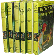 Nancy Drew Mystery Stories, Six Volumes, #'s 2, 5, 14, 21, 26, 39, by Carolyn Keene, 1960's