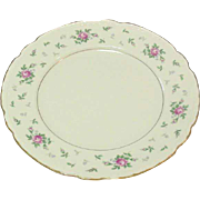 Princess China, TruTone USA, Sweet Briar Pattern, Dinner Plate, Mid 20th Century
