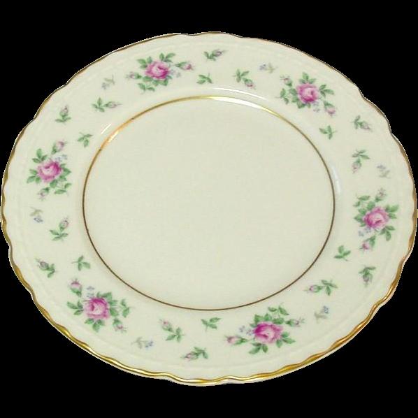 Princess China, TruTone USA, Sweet Briar Pattern, Bread Plate, Mid 20th Century