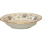 Princess China, TruTone USA, Sweet Briar Pattern, Dessert Bowl, Mid 20th Century