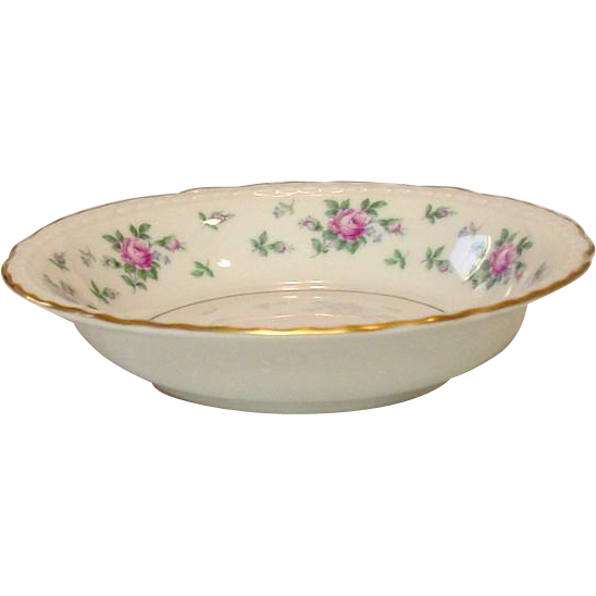 Princess China, TruTone USA, Sweet Briar Pattern, Dessert Bowl, Mid 20th Century