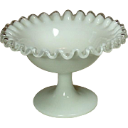 Fenton Art Glass Company, Silver Crest Line, Sherbet, footed