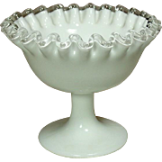 Fenton Art Glass Company, Silver Crest Line, Nut Dish, footed