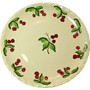 Blue Ridge, Southern Potteries, Dinner Plate, Cherry Tree Glen, Pie Crust Rim