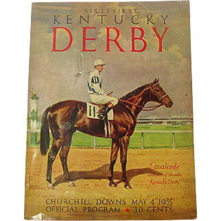 Sixty First Kentucky Derby Official Program, May 4, 1935, Derby History, Great Old Ads