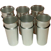 Kensington Ware, Vintage Aluminum Tumblers, Set of Twelve