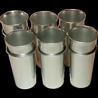 Kensington Ware, Vintage Aluminum Tumblers, Set of Twelve
