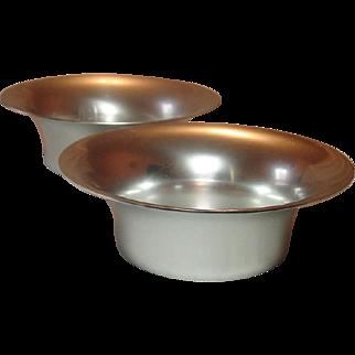 Kensington Ware, Vintage Aluminum Serving Bowls, Flared Rim