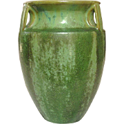 Fulper Art Pottery, Bullet Vase, #530, Green Drip Glaze, Arts and Crafts