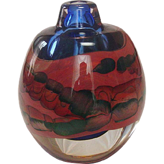 Brent Kee Young Art Glass, Perfume Bottle, Circa 1980, Signed