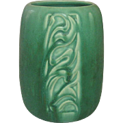 Rookwood Pottery, Arts and Crafts, Incised Design Vase, Matte Emerald Green, 1931