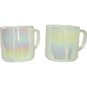 Federal Glass Company, Moon Glow Coffee Mugs, 1960's, Iridescent