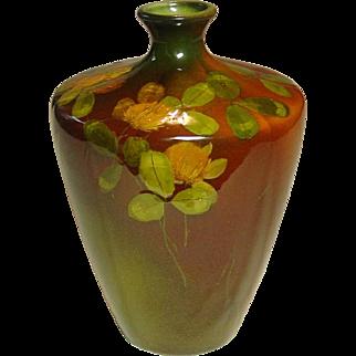 Rookwood Pottery Vase, 1893, Olga Geneva Reed, Standard Glaze, Slip Decorated
