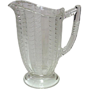 EAPG Glass Milk Pitcher, Fish-scale Pattern, Circa 1891, Bryce Glass or U.S. Glass