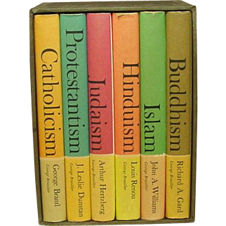 The Great Religions of Modern Man, Six Volumes, Slipcase, 1962 ~ Hinduism, Buddhism, Judaism, Islam, Christianity