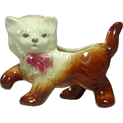 Shawnee Pottery, Vintage, Playful Kitten Planter, Handpainted, Cute