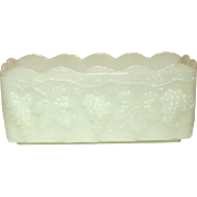 Fire-King by Anchor Hocking, Harvest Grape Pattern, Loaf / Casserole / Planter