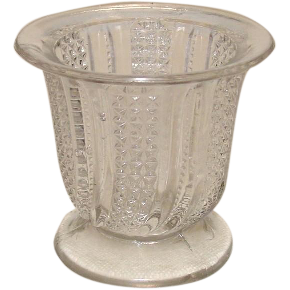 EAPG Glass Sugar, Feather Pattern, Circa 1896, McKee Brothers