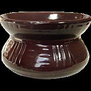 Robinson-Ransbottom Cuspidor ~ Model 193 ~ Dark Brown Glaze ~ Circa 1930 ~ Zanesville, Ohio Pottery ~ USA