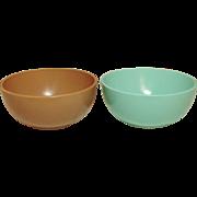 Hazel-Atlas Glass ~ Ovide Moderntone ~ Berry Bowls ~ Mid-Century