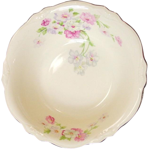 Homer Laughlin China ~ Virginia Rose ~ Fluffy Rose #1 ~ Serving Bowl