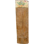 Scandinavian Washboard ~ Handcarved & Painted ~ Folk Art ~ Mid to Late19th Century
