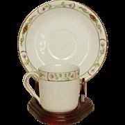 Noritake ~ Demitasse Cups & Saucers ~ Handpainted ~ 8 sets ~ Made in Japan mark