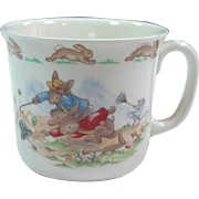 Royal Doulton English Fine Bone China ~ Bunnykins ~ Windy Hug-A-Mug