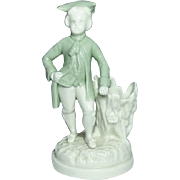 Royal Worcester Porcelain ~ Figural Toothpick Holder ~ 18th Century Gentleman ~ Circa 1862
