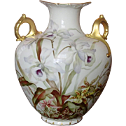Ceramic Art Company ~ American Belleek Vase ~ Handpainted Florals, Gilt ~ 1889-1906
