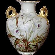 Ceramic Art Company ~ American Belleek Vase ~ Handpainted Florals, Gilt ~ 1889-1906