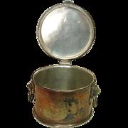 Elkington Plate ~ English Hallmarked ~ Lion Handled Round Box