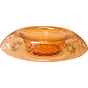 """Westmoreland Glass ~ 14"""" Flange Bowl ~ Cutting by Sinclaire of Corning"""