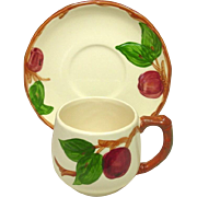 Franciscan China ~ Apple Pattern ~ Small Mug and Saucer ~ U.S.A.