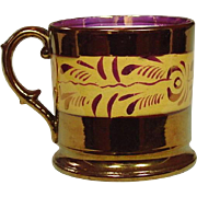 Copper Lustreware Mug ~ Staffordshire, England ~ 19th Century